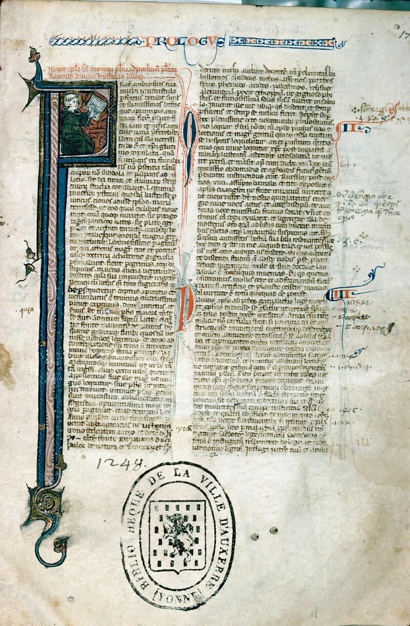 Auxerre, Bibl. mun., ms. 0001, f. 001 - vue 1