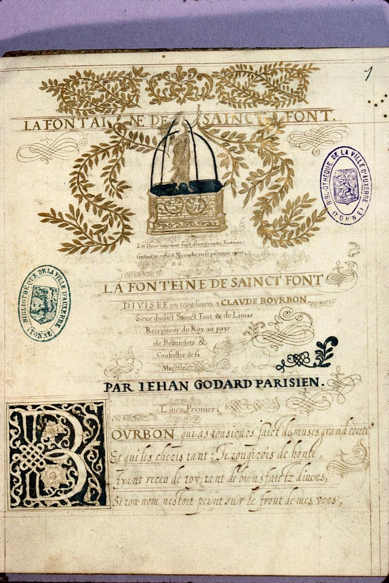 Auxerre, Bibl. mun., ms. 0088, f. 001