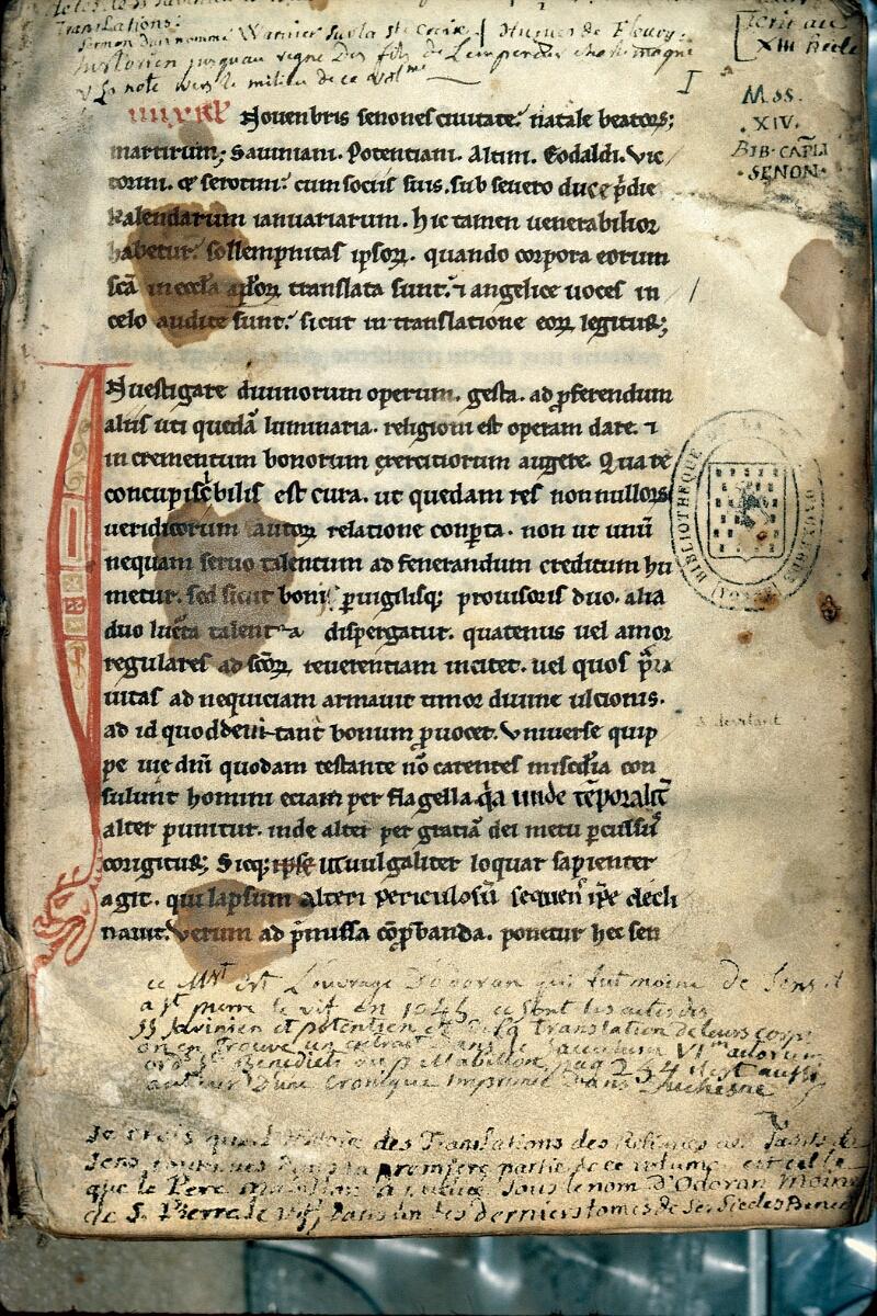 Auxerre, Bibl. mun., ms. 0198, f. 001