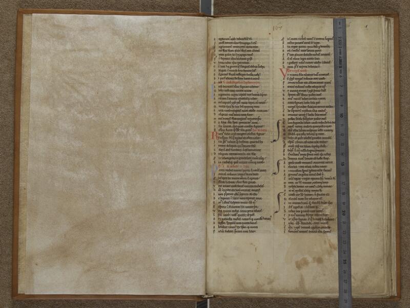 AUXERRE, Bibliothèque municipale, 006, garde verso - f. 001 (avec réglet)
