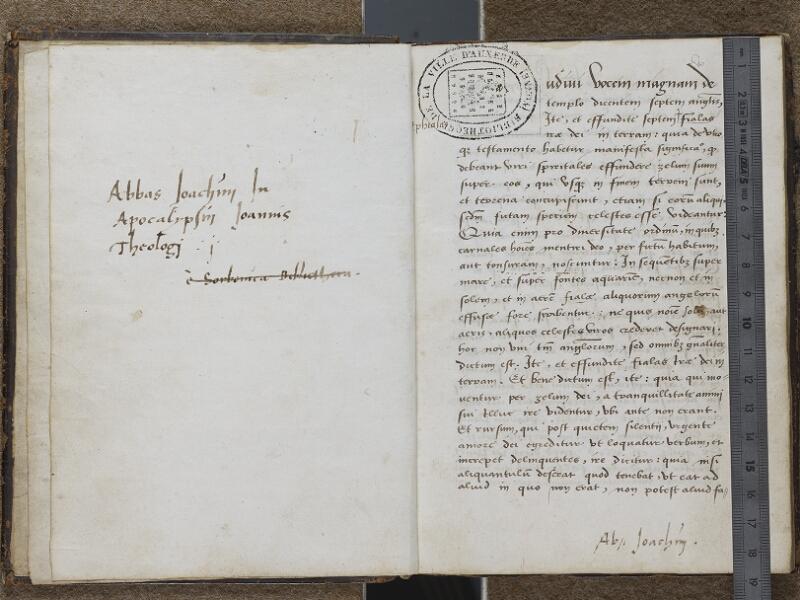 AUXERRE, Bibliothèque municipale, 008, f. 001v - 002 (avec réglet)
