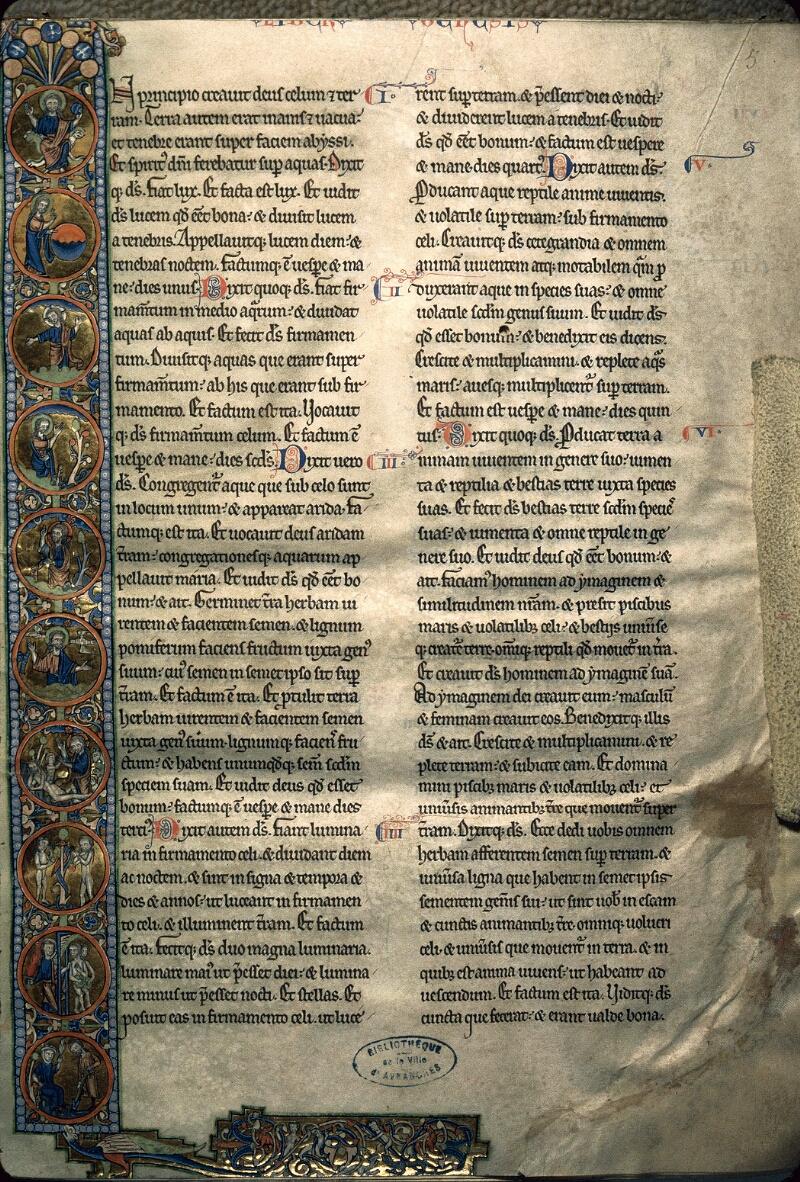 Avranches, Bibl. mun., ms. 0002, f. 005 - vue 1