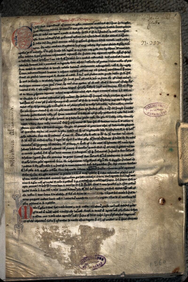 Avranches, Bibl. mun., ms. 0012, f. 001