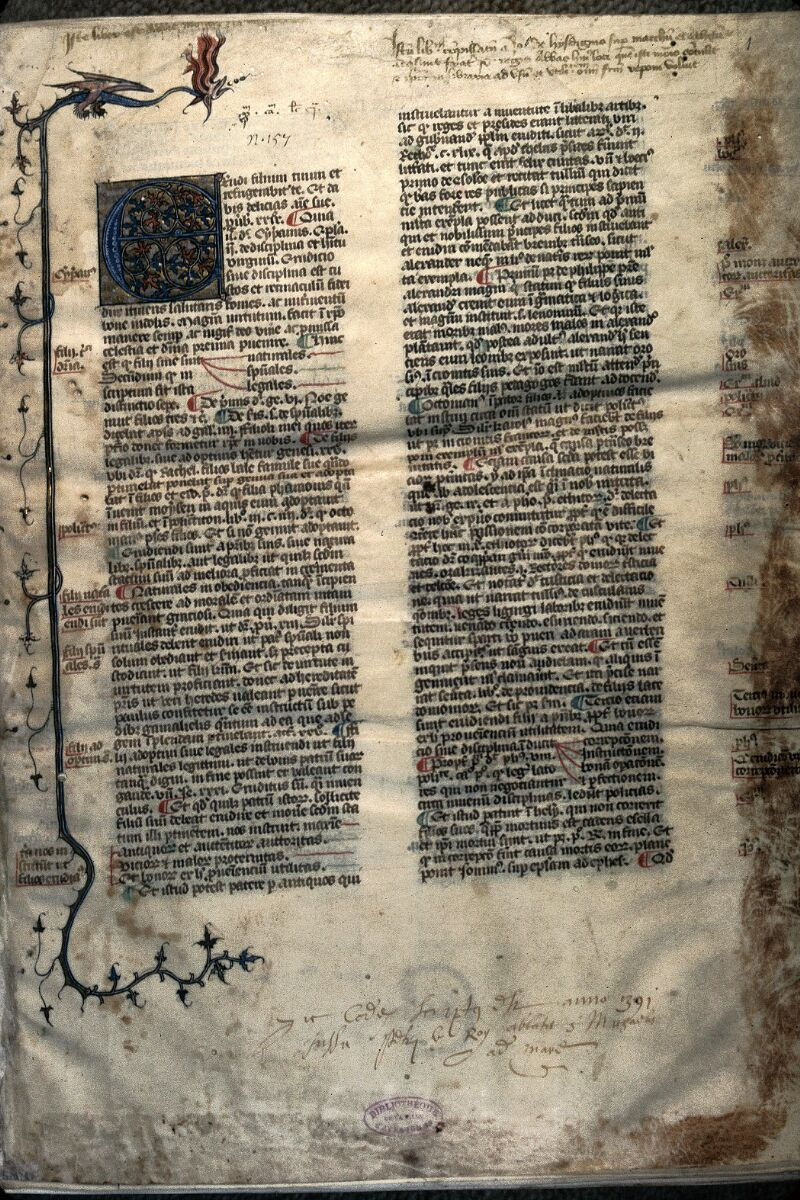 Avranches, Bibl. mun., ms. 0033, f. 001 - vue 1