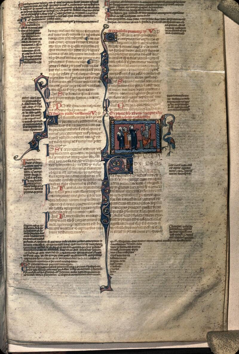 Avranches, Bibl. mun., ms. 0033, f. 313 - vue 1