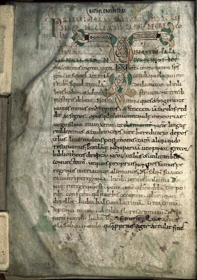 Avranches, Bibl. mun., ms. 0050, f. 001v
