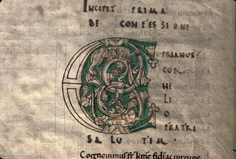 Avranches, Bibl. mun., ms. 0051, f. 001v - vue 2