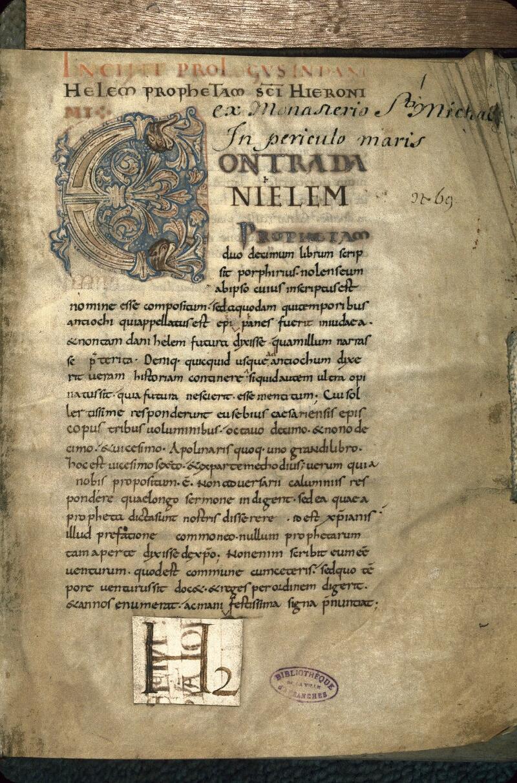 Avranches, Bibl. mun., ms. 0070, f. 001 - vue 1