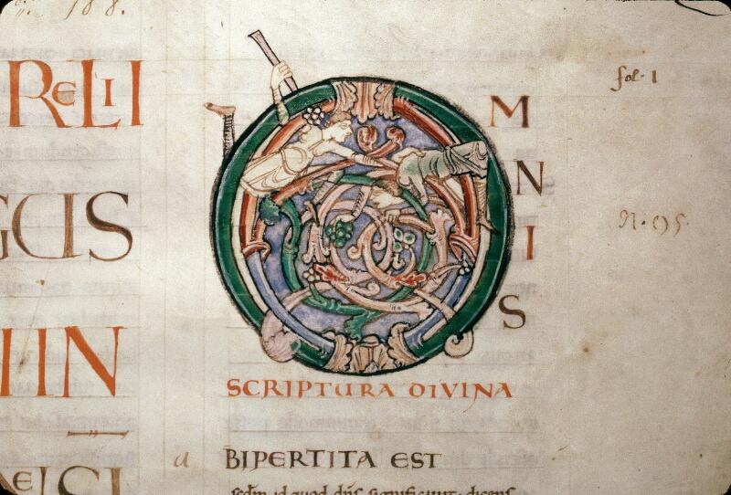 Avranches, Bibl. mun., ms. 0075, p. 001 - vue 2
