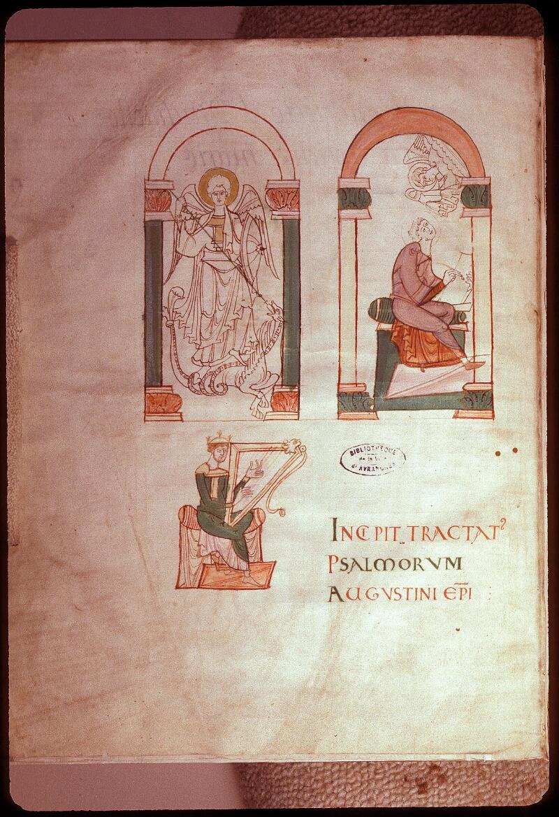 Avranches, Bibl. mun., ms. 0076, f. 000I - vue 1