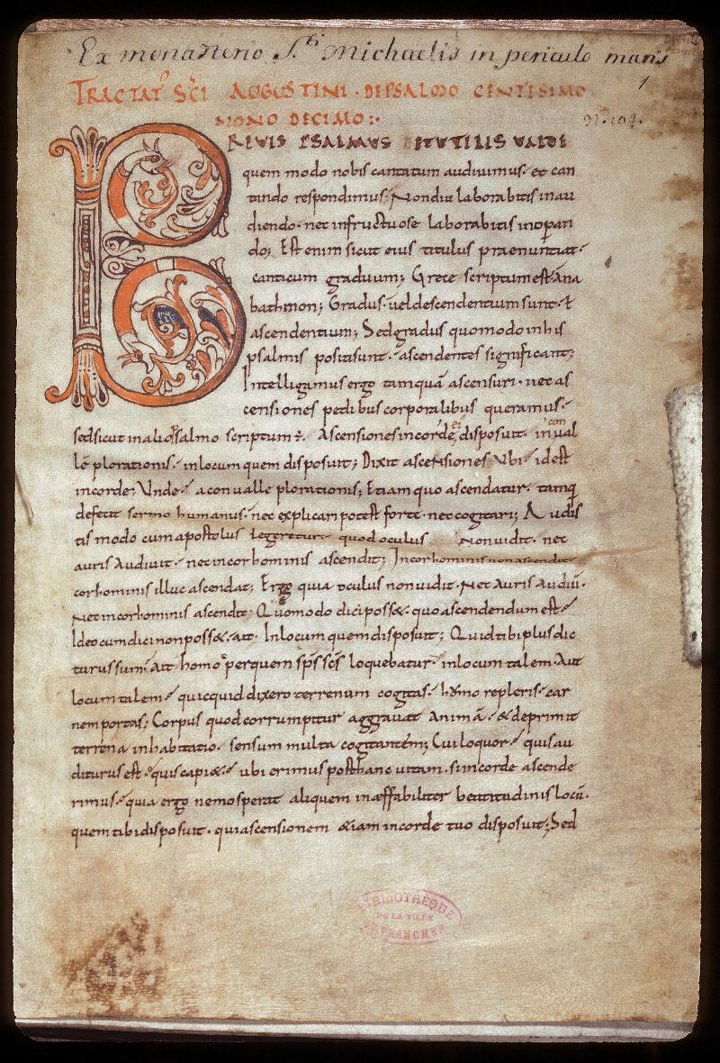 Avranches, Bibl. mun., ms. 0078, f. 001 - vue 1