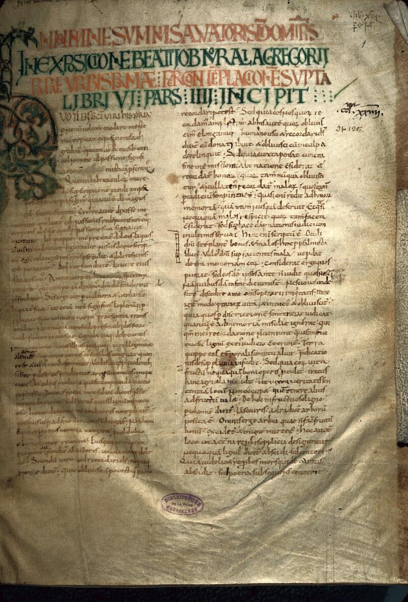 Avranches, Bibl. mun., ms. 0098, f. 001