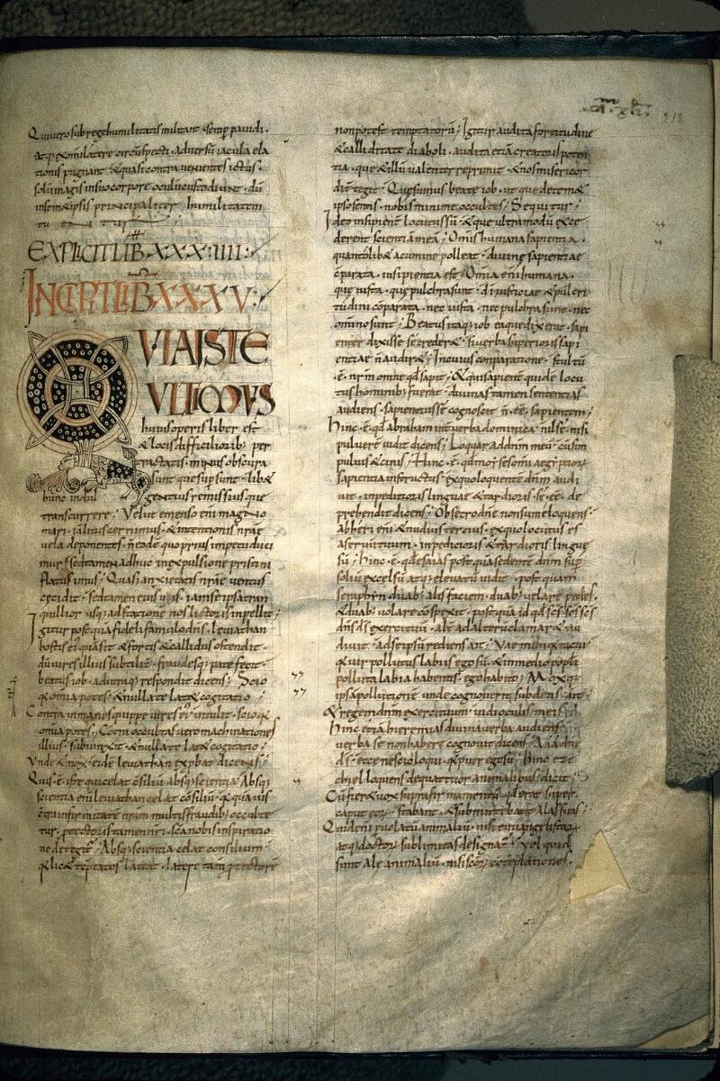 Avranches, Bibl. mun., ms. 0098, f. 218 - vue 1