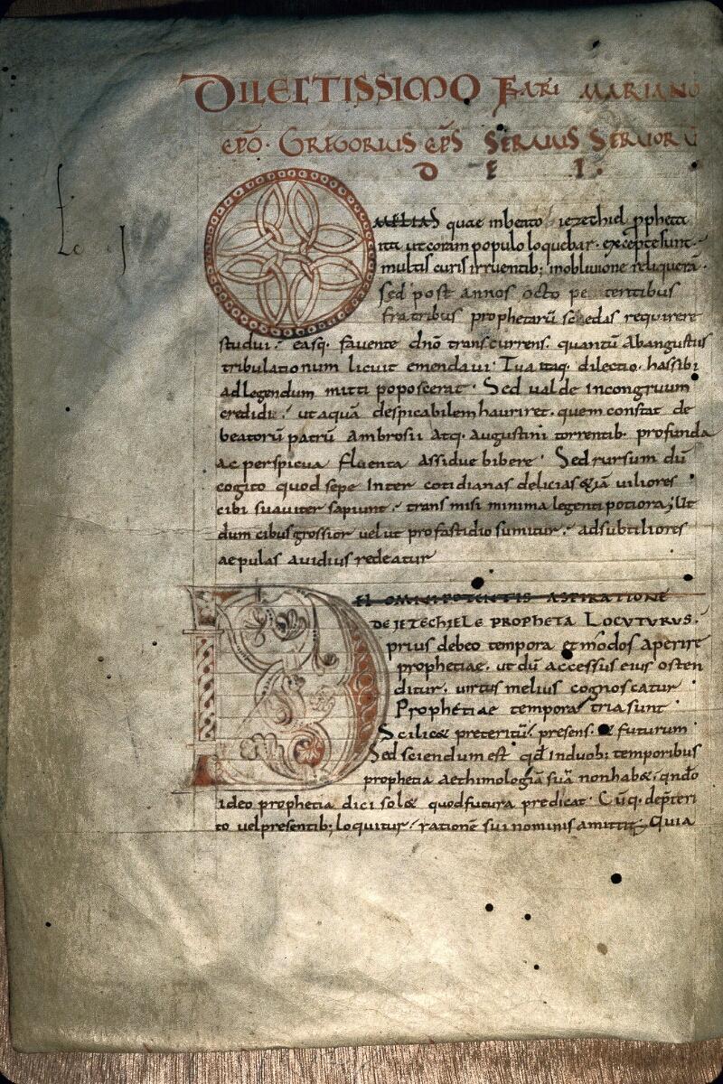 Avranches, Bibl. mun., ms. 0099, f. 001v