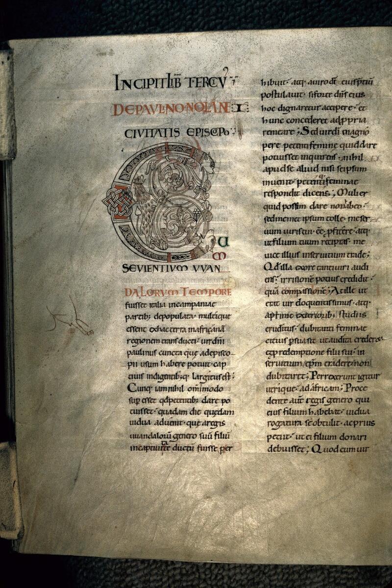 Avranches, Bibl. mun., ms. 0101, f. 045v - vue 1