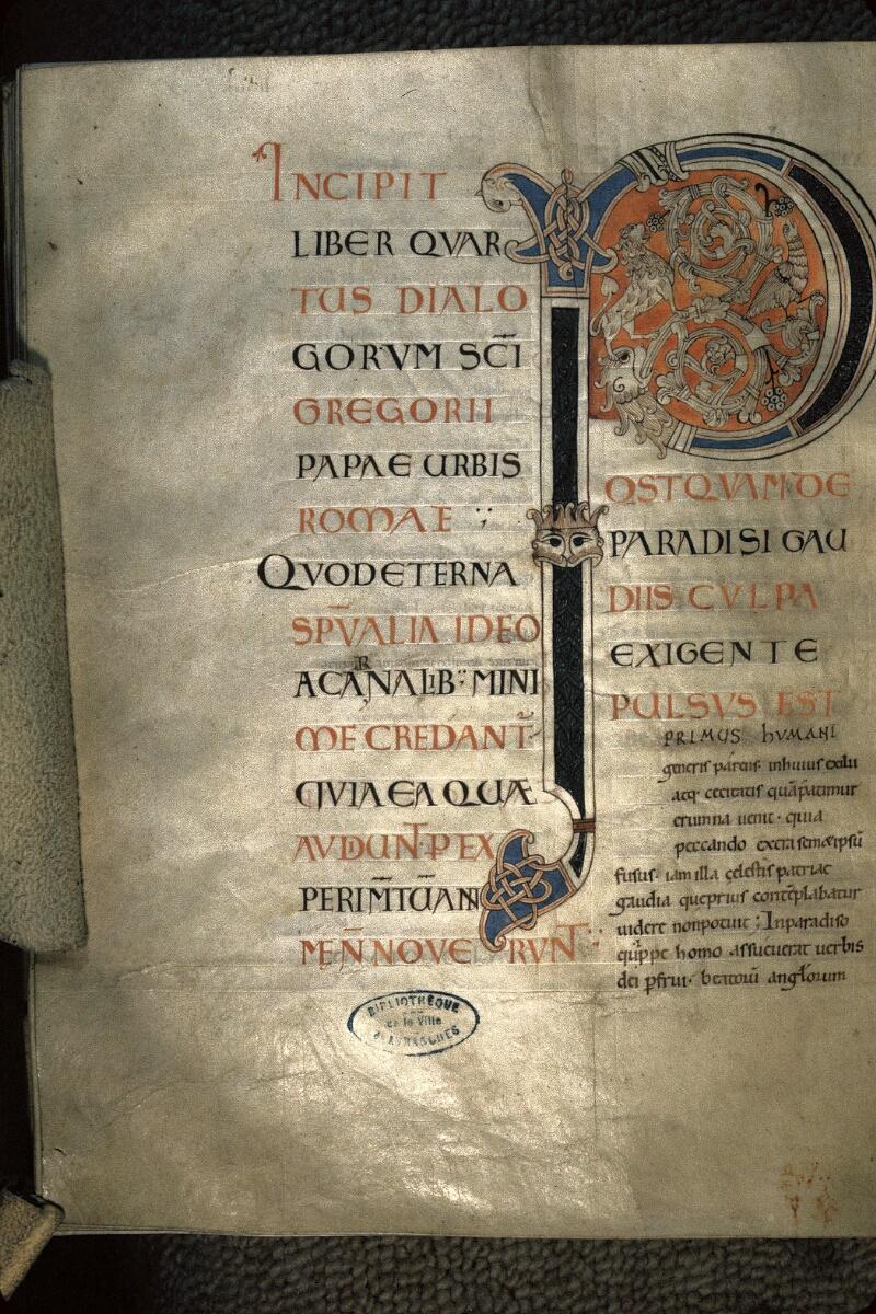 Avranches, Bibl. mun., ms. 0101, f. 077v - vue 1