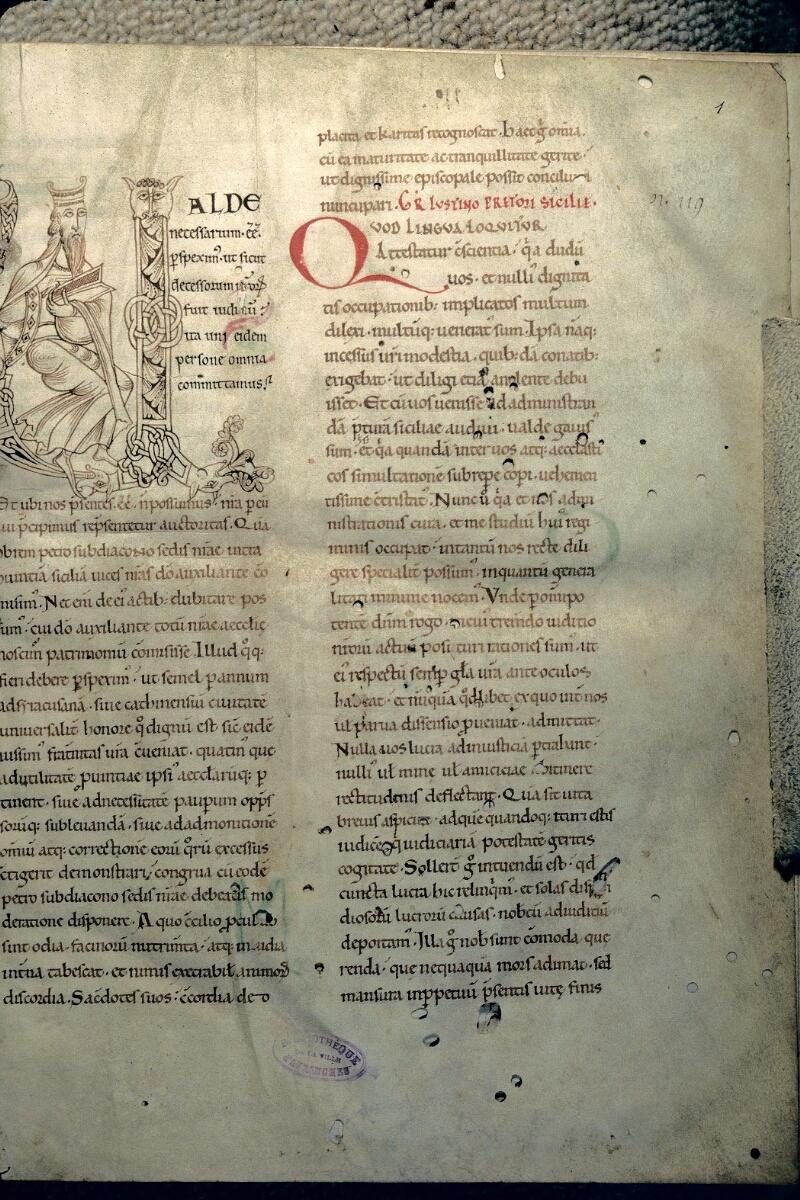 Avranches, Bibl. mun., ms. 0102, f. 001 - vue 1