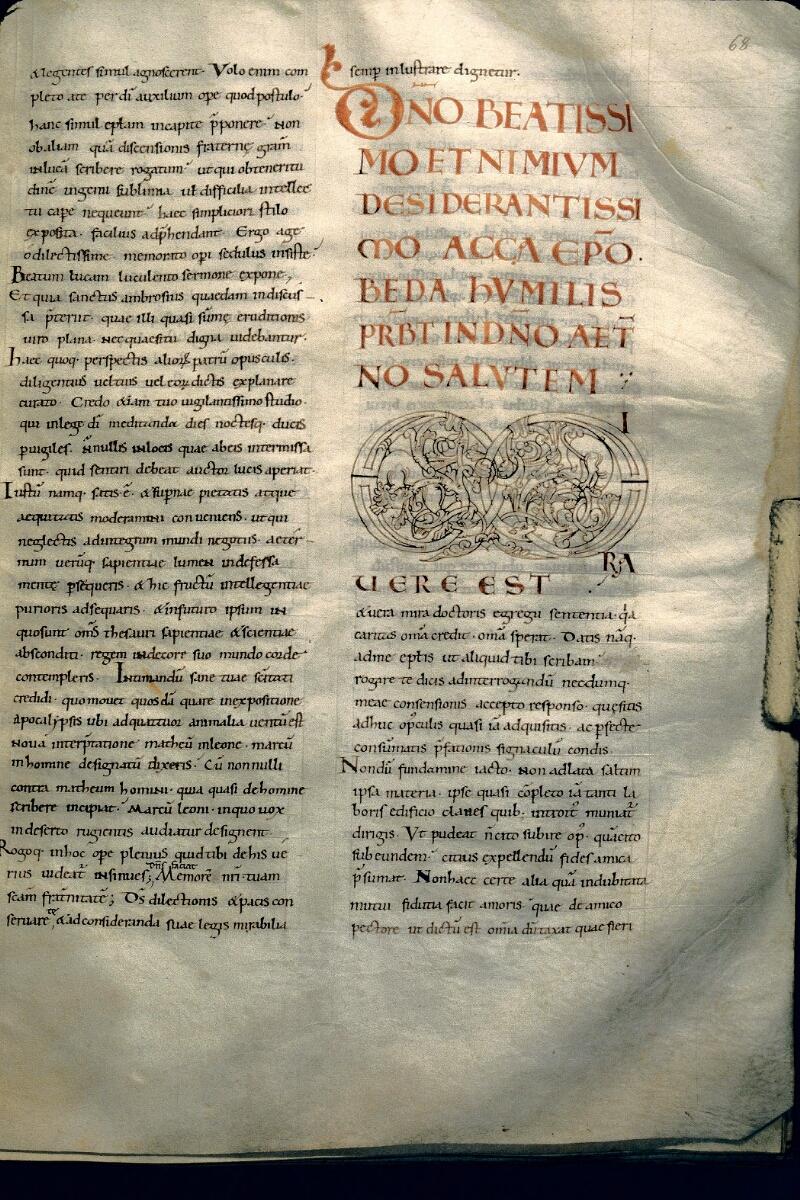 Avranches, Bibl. mun., ms. 0107, f. 068 - vue 1