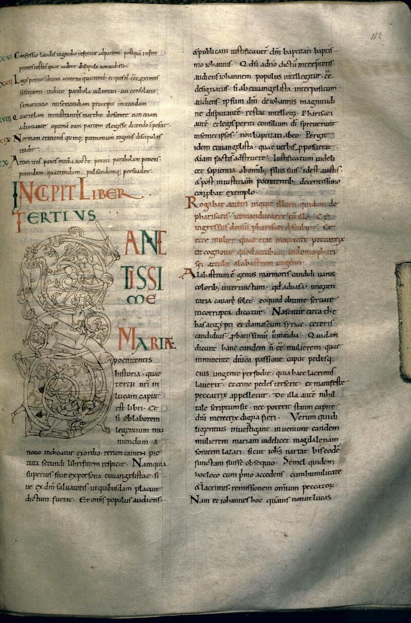 Avranches, Bibl. mun., ms. 0107, f. 112 - vue 1