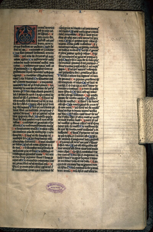 Avranches, Bibl. mun., ms. 0120, f. 001 - vue 1