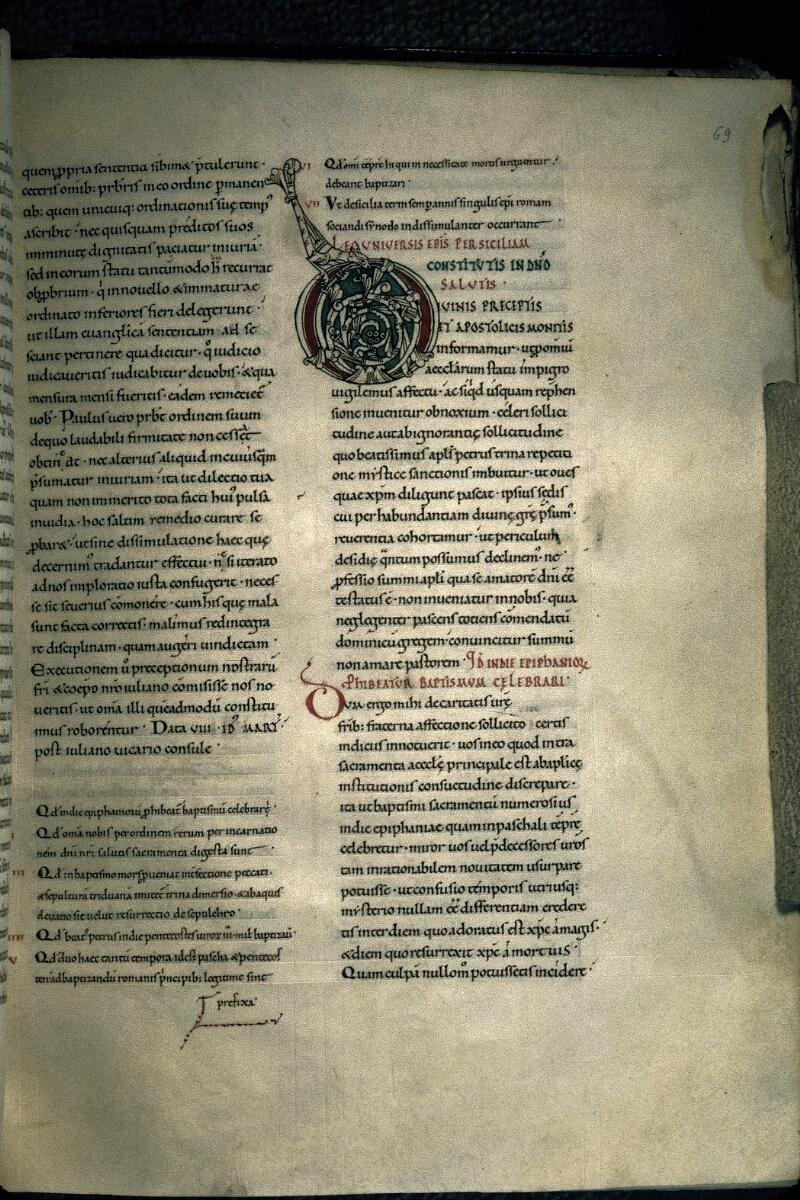 Avranches, Bibl. mun., ms. 0146, f. 069 - vue 1