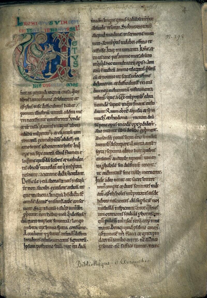 Avranches, Bibl. mun., ms. 0159, f. 004 - vue 1
