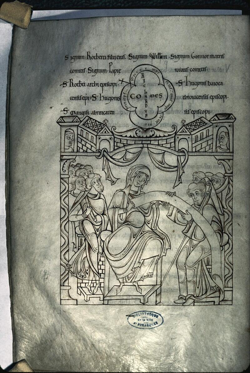 Avranches, Bibl. mun., ms. 0210, f. 023v - vue 1