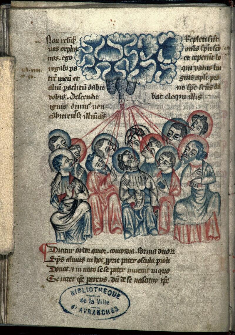 Avranches, Bibl. mun., ms. 0213, f. 015v - vue 1