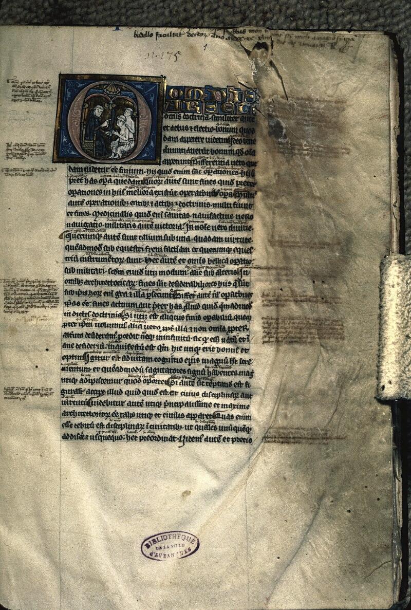 Avranches, Bibl. mun., ms. 0222, f. 001 - vue 1