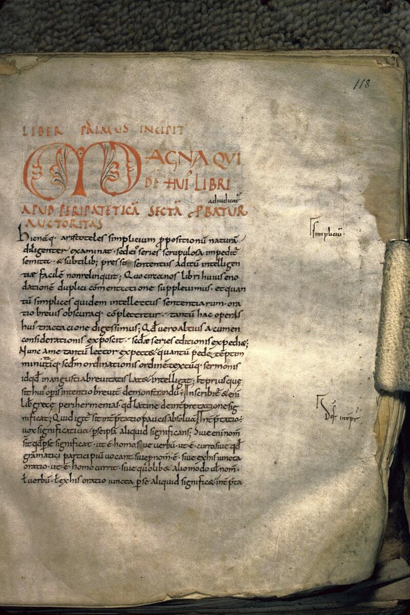 Avranches, Bibl. mun., ms. 0229, f. 118