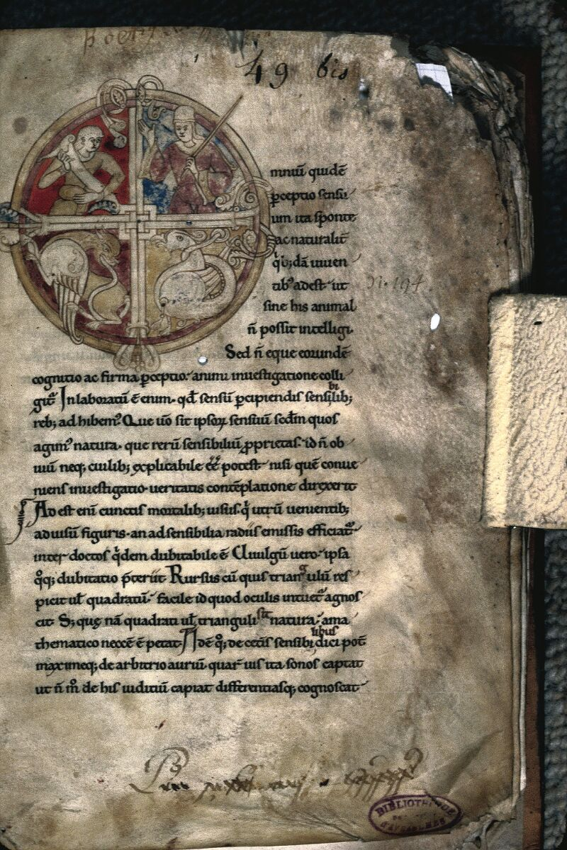 Avranches, Bibl. mun., ms. 0237, f. 001 - vue 1