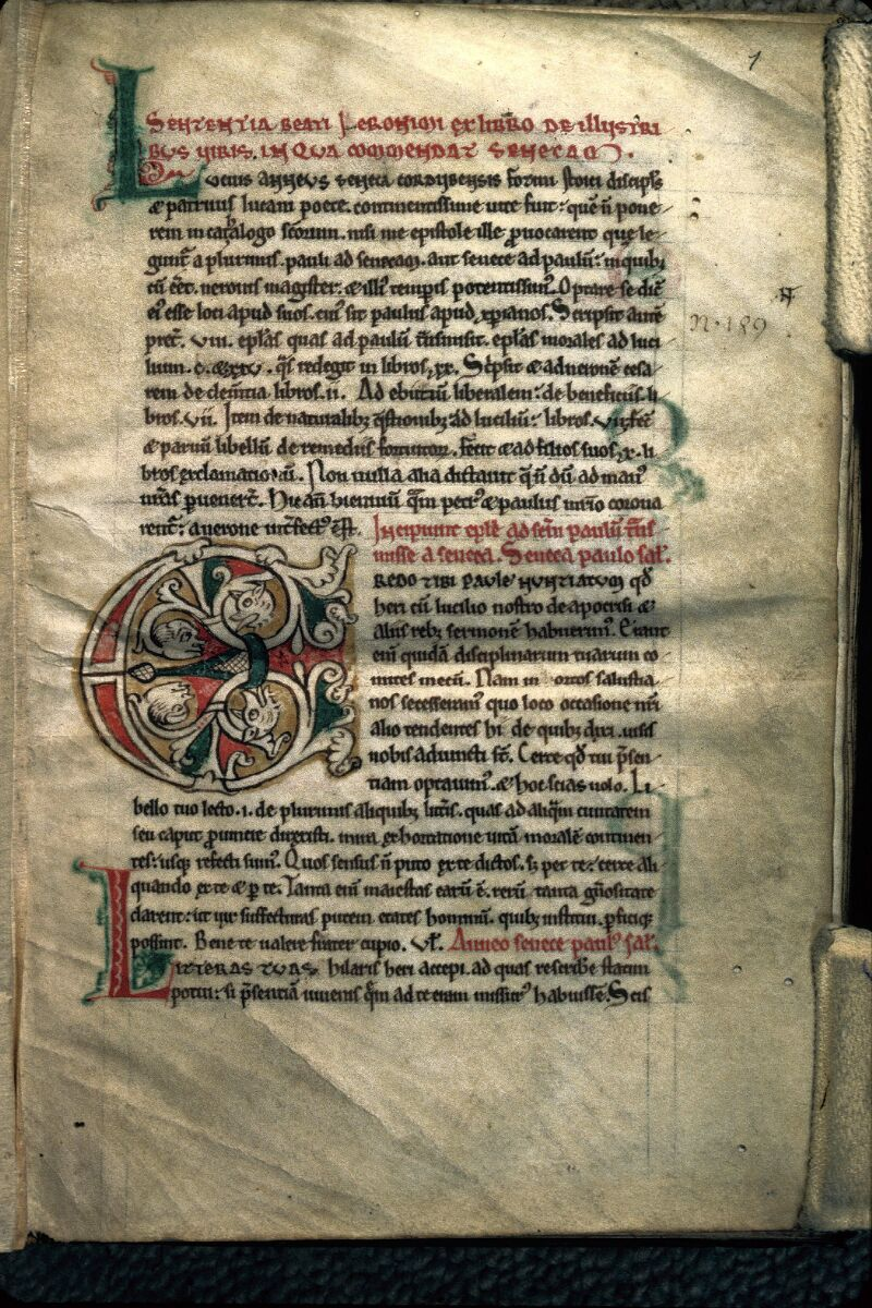 Avranches, Bibl. mun., ms. 0239, f. 001 - vue 1