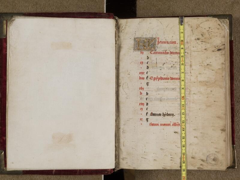 AVRANCHES, Bibliothèque municipale, 0302, f. 000Cv - 001 avec réglet