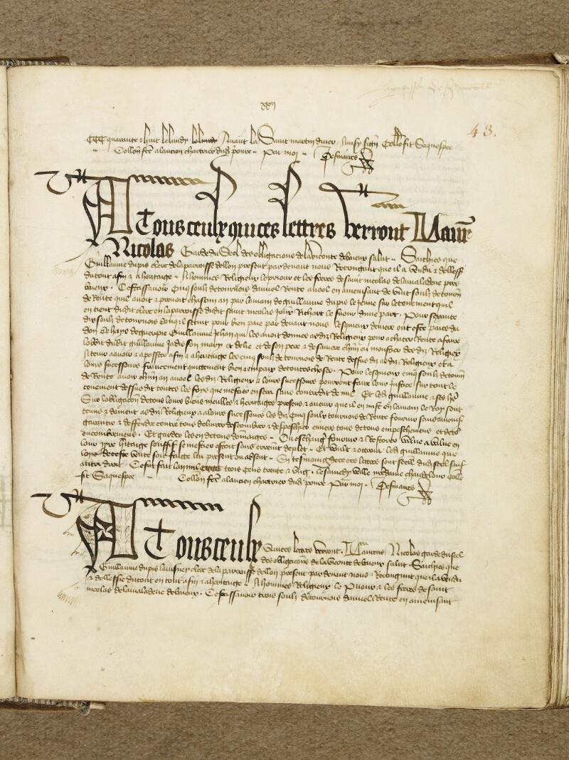 Bayeux, Bibl. mun., ms. 0001, p. 043 - vue 2