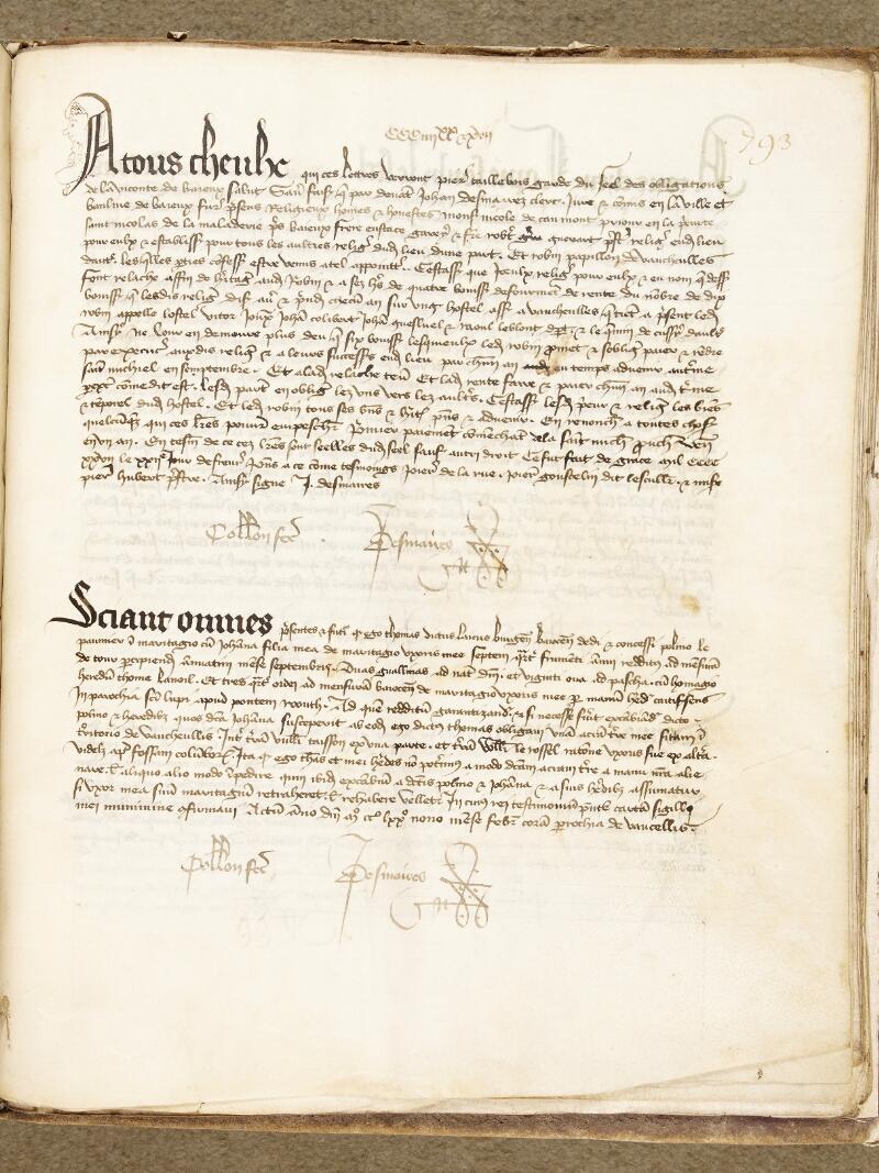 Bayeux, Bibl. mun., ms. 0001, p. 793