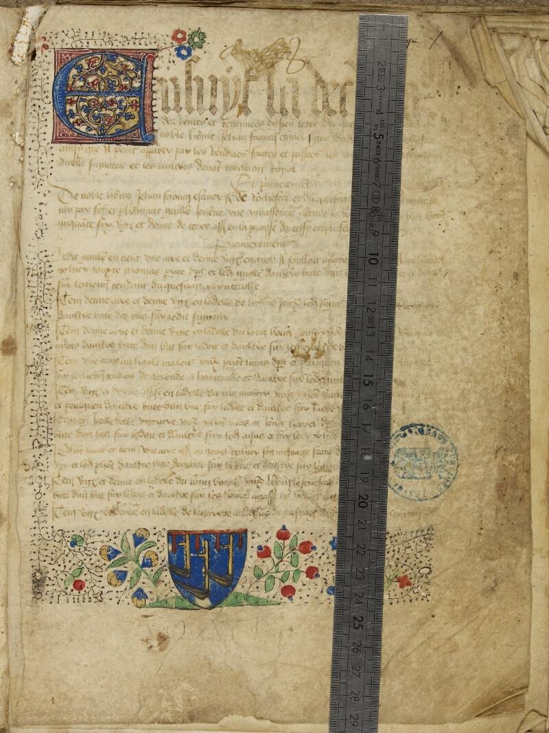 Bayeux, Bibl. mun., ms. 0007, f. 001 - vue 1