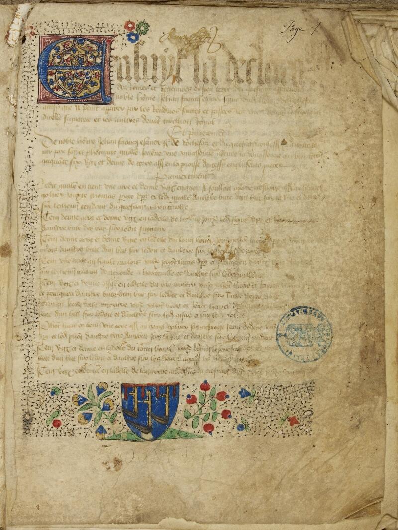 Bayeux, Bibl. mun., ms. 0007, f. 001 - vue 2