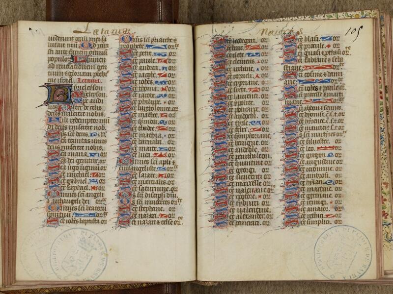 Bayeux, Bibl. mun., ms. 0058, f. 104v-105
