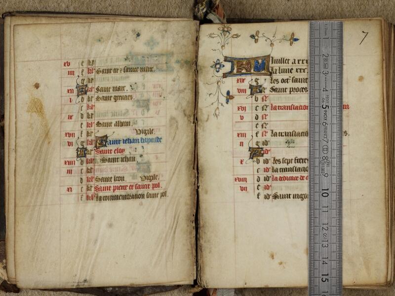 Bayeux, Bibl. mun., ms. 0183, f. 006v-007 - vue 1