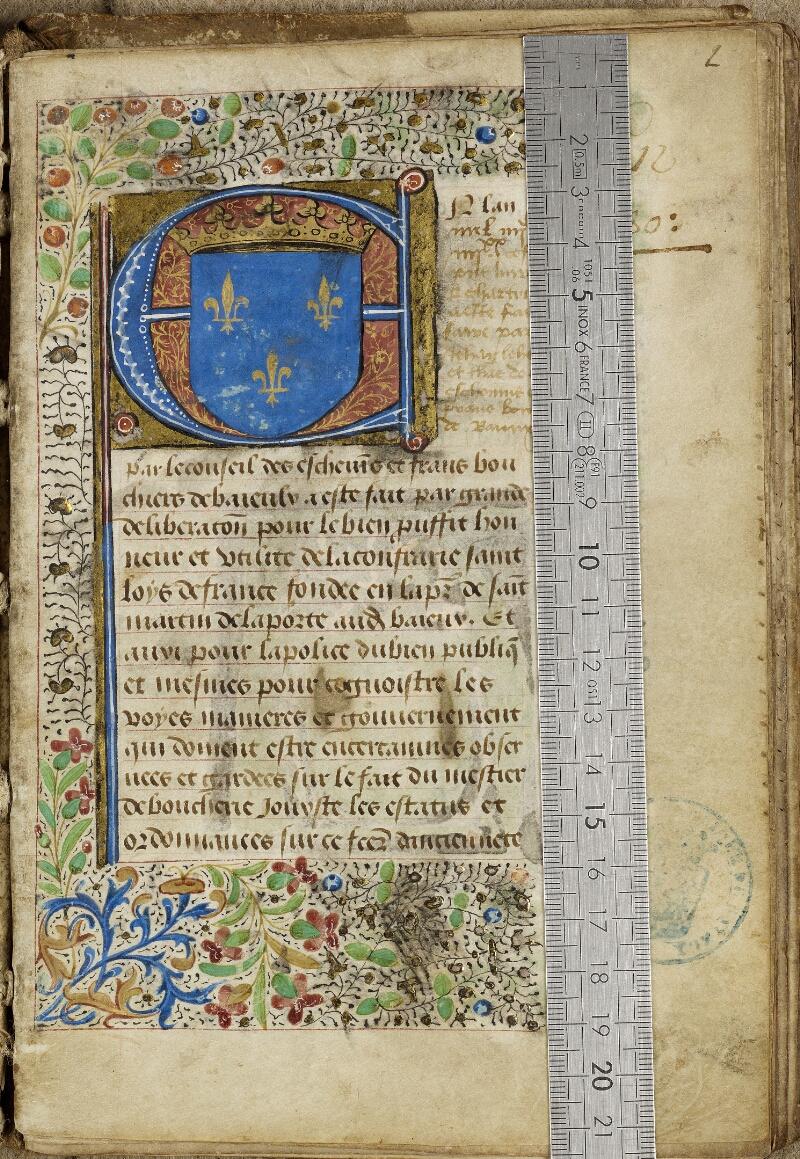Bayeux, Bibl. mun., ms. 0004, f. 002 - vue 1