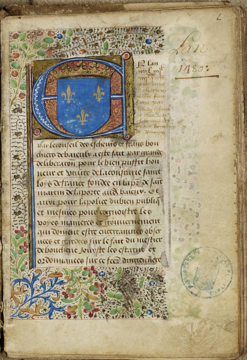 Bayeux, Bibl. mun., ms. 0004, f. 002 - vue 2