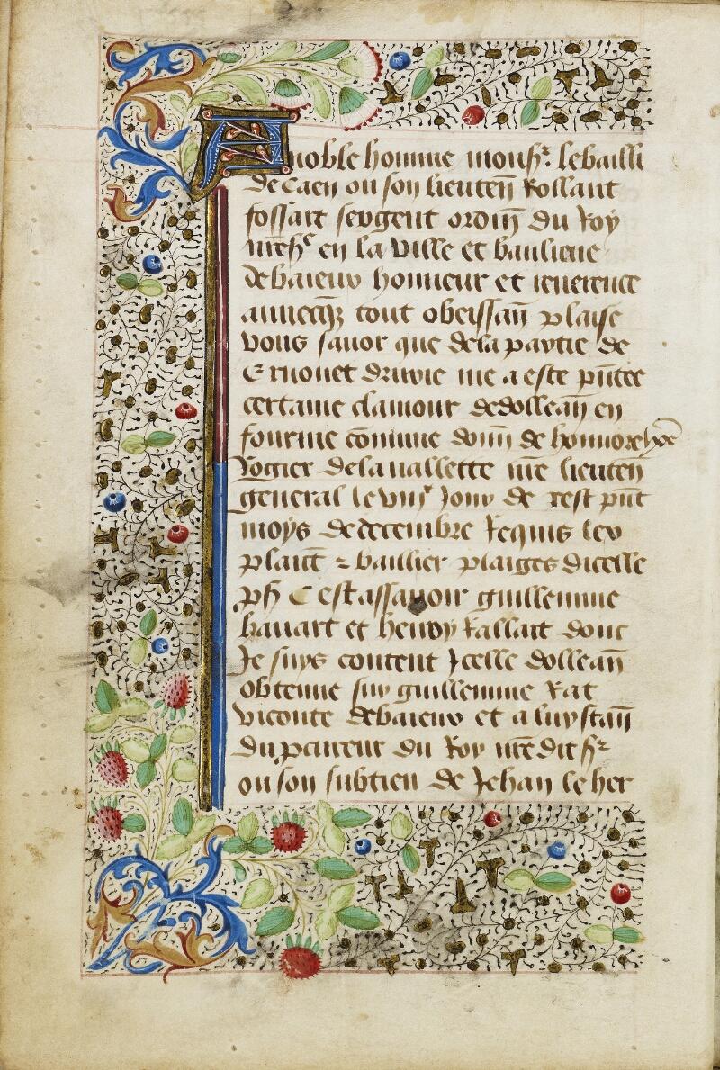 Bayeux, Bibl. mun., ms. 0004, f. 032v - vue 1