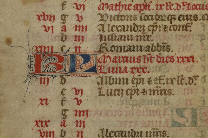 Bayeux, Bibl. mun., ms. 0058, f. 001 - vue 3