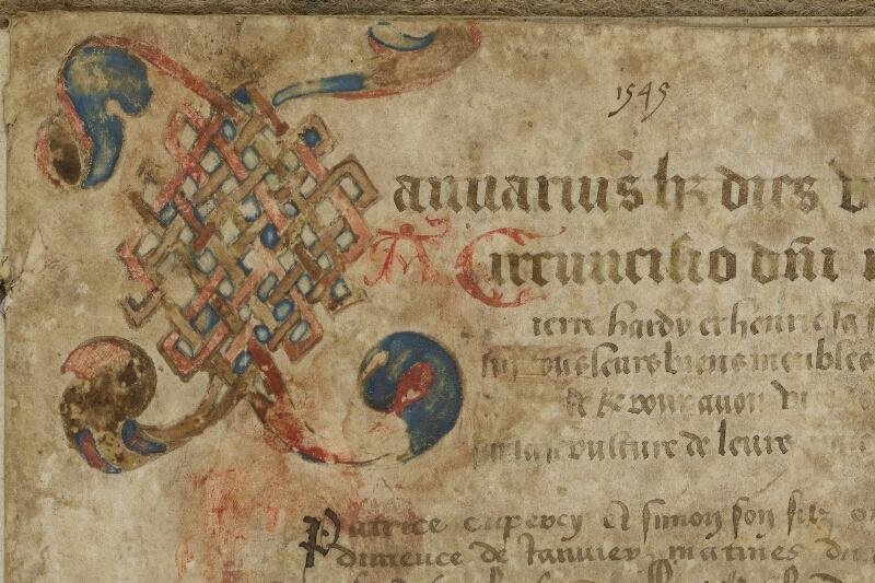 Bayeux, Bibl. mun., ms. 0096, f. 001 - vue 3
