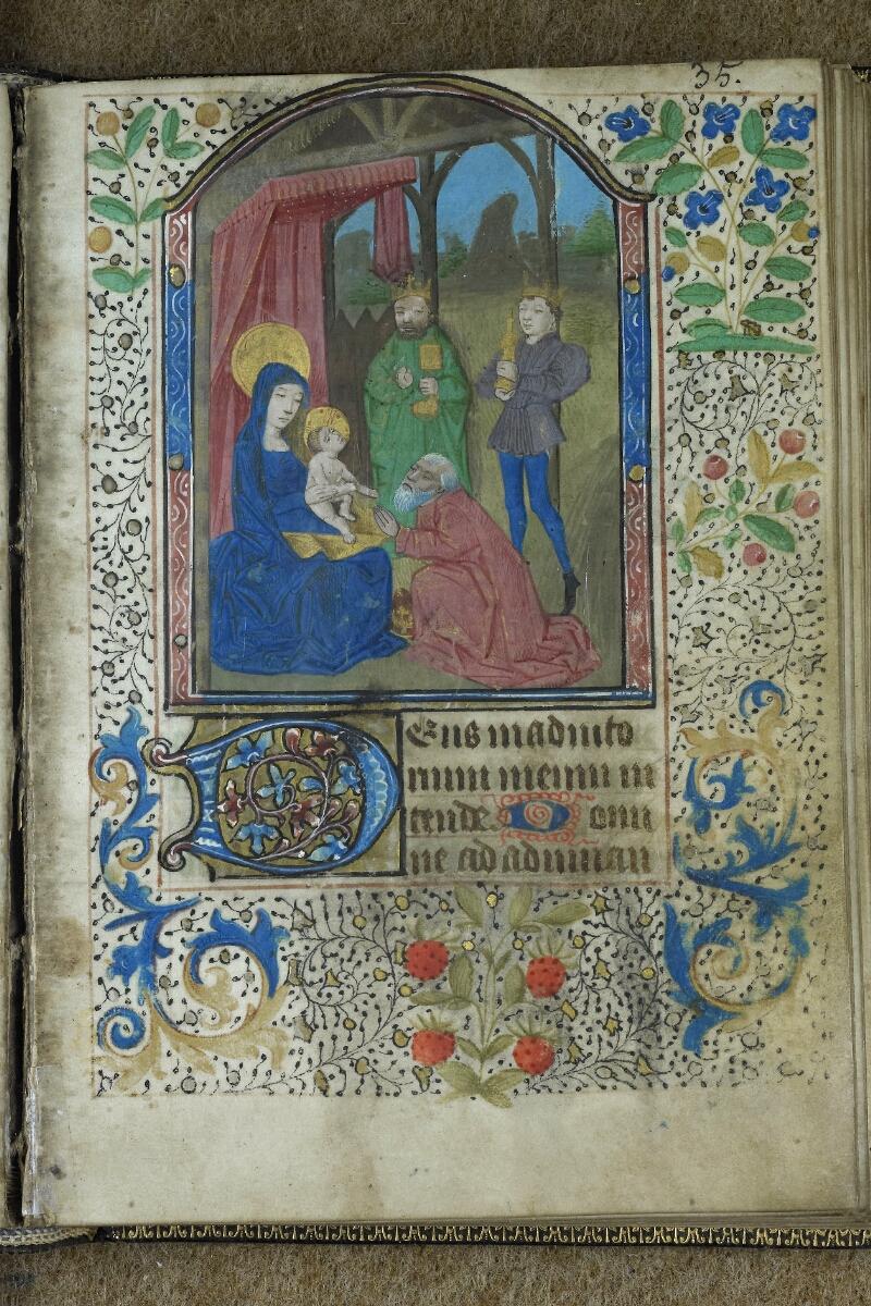 Brest, Bibl. mun, ms. 0001, f. 035 - vue 1