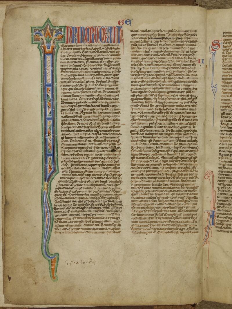 Caen, Bibl. mun., ms. 0002, f. 003v - vue 1