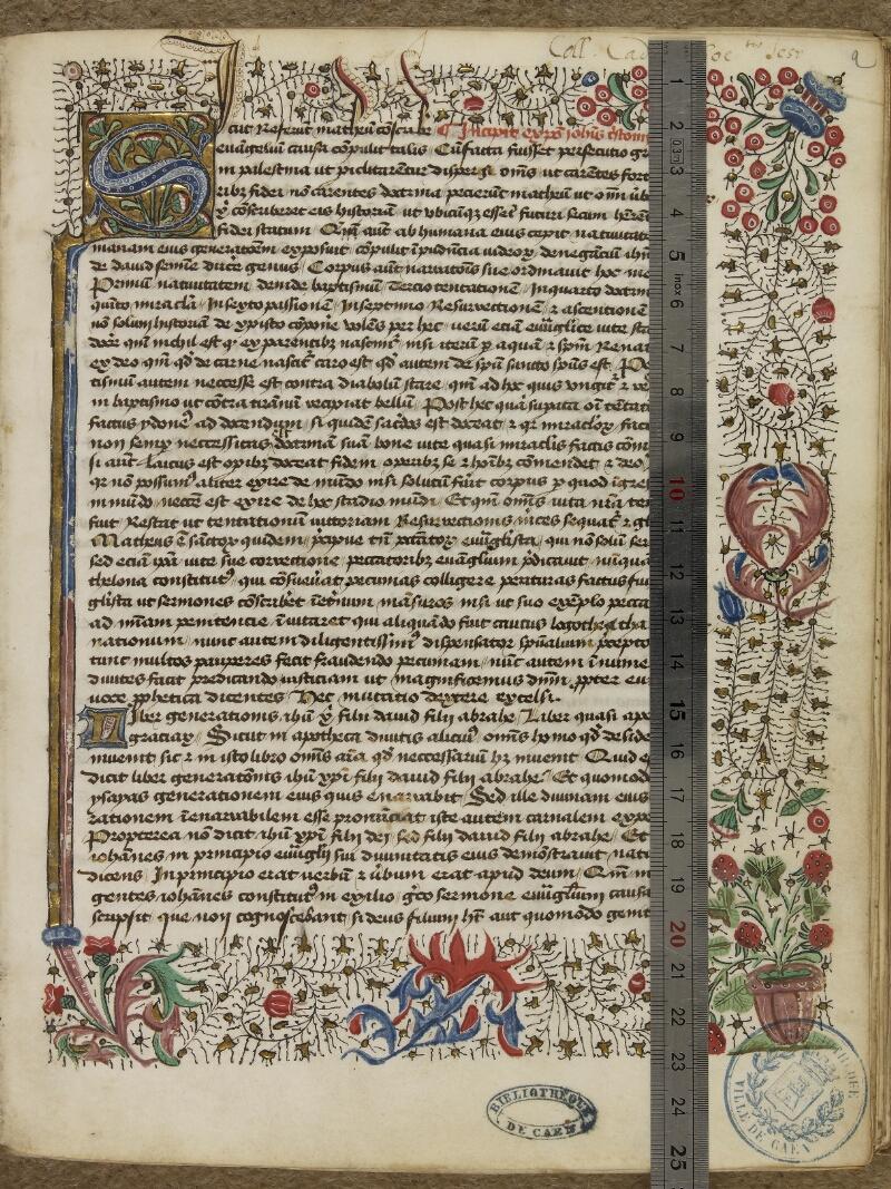 Caen, Bibl. mun., ms. 0025, f. 001- vue 1