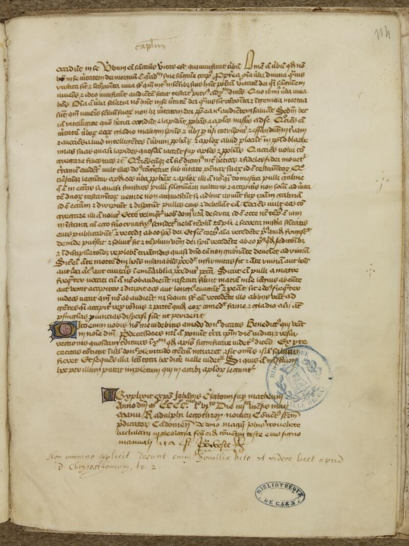 Caen, Bibl. mun., ms. 0025, f. 114