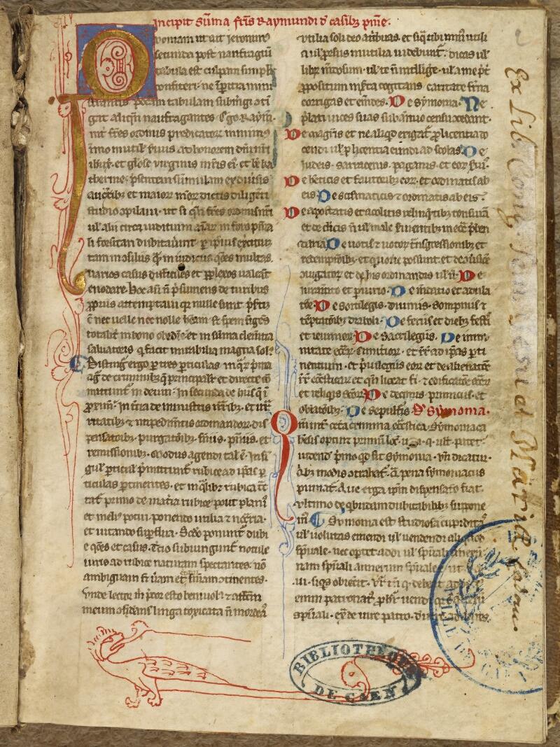 Caen, Bibl. mun., ms. 0035, f. 001- vue 2