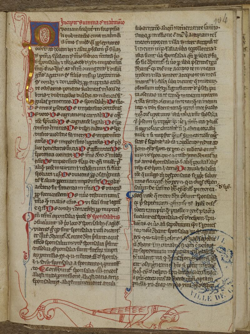 Caen, Bibl. mun., ms. 0035, f. 104